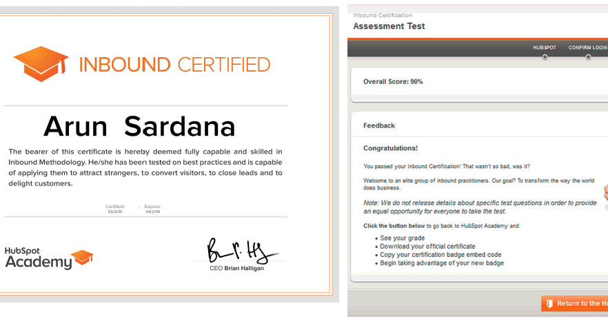 Hubspot Inbound Marketing Certification Questions Answers