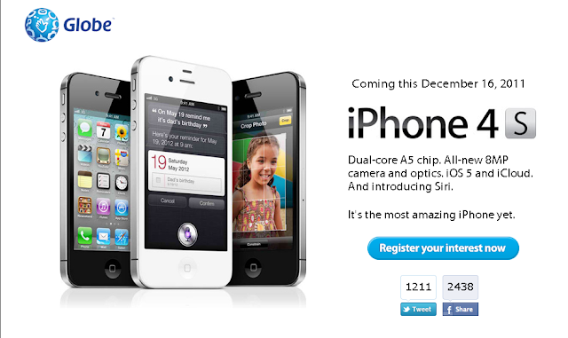 Official! Globe iPhone 4S via Postpaid Plans