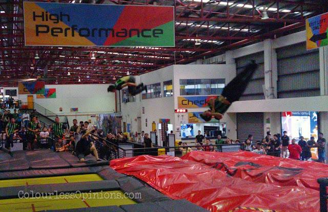 Jump Street Trampoline Park KL PJ Jump Referees demonstration