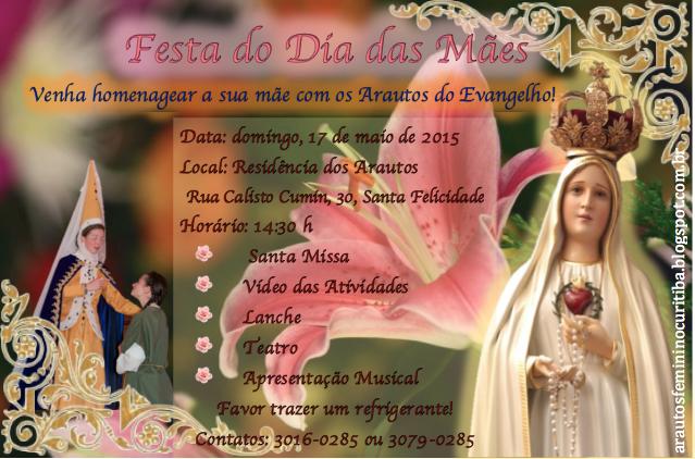 Convite - Dia das Mães