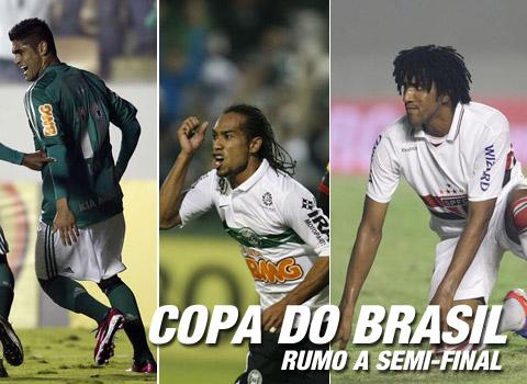 Coritiba, Palmeiras e São Paulo já estão na semi-final da Copa do Brasil 2012