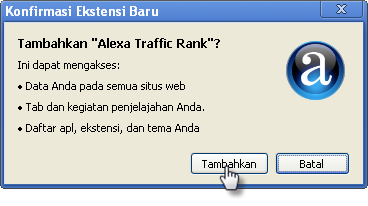 Cara Install Alexa Toolbar di Chrome
