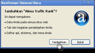 Cara Install Alexa Toolbar di Chrome