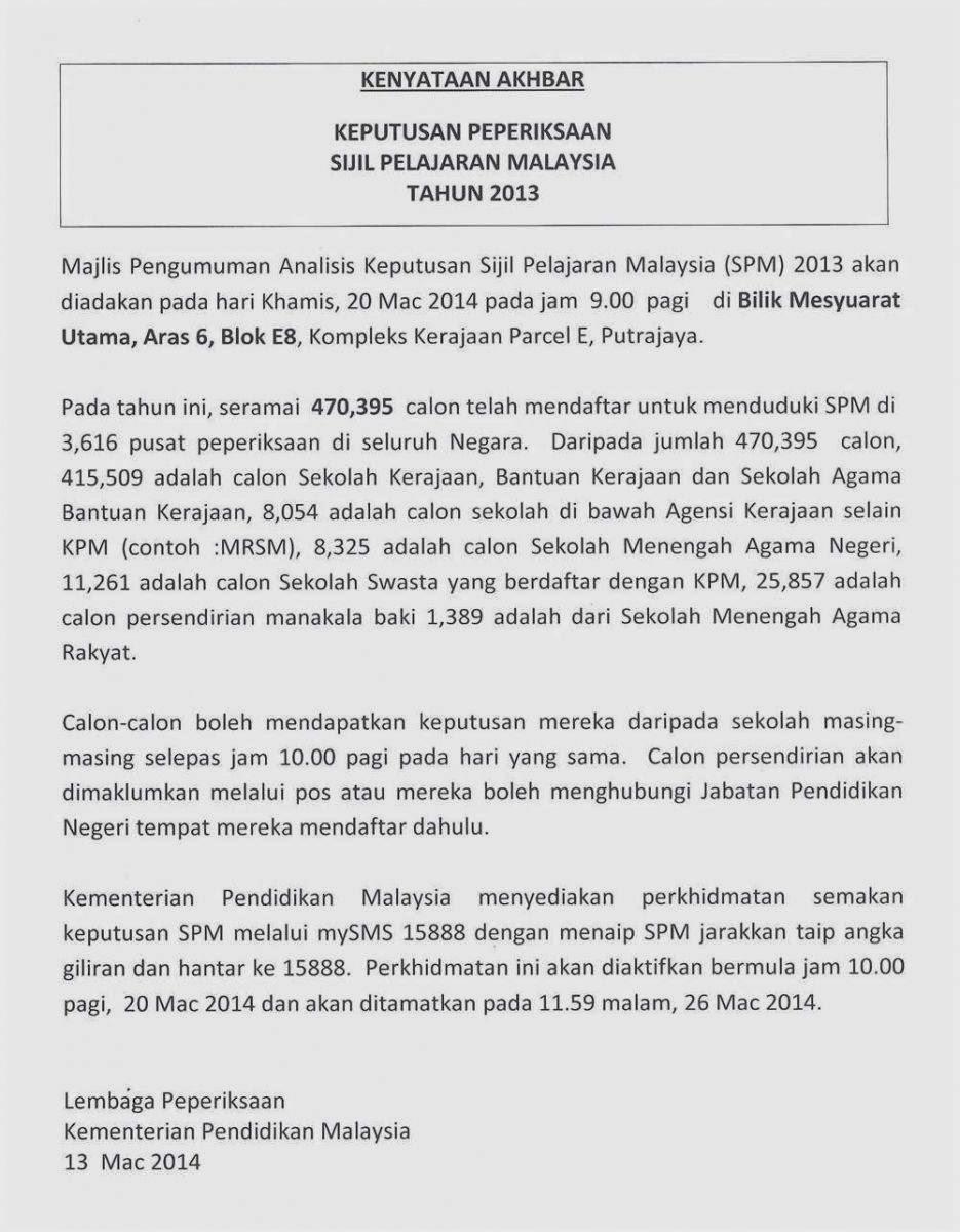 Keputusan Spm 2013 Smk Toh Johan Trong Perak