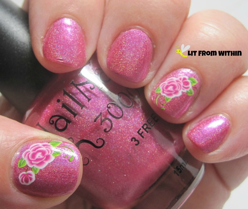 NailNation3000 Share The Love, a fuchsia holo