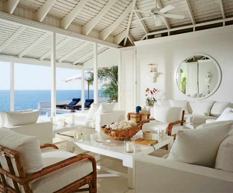 Inspirations on the horizon coastal living rooms for Beach house living room ideas