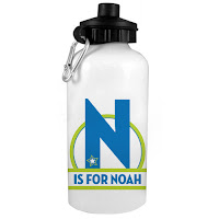 Psychobaby Magical Star Monogram Water Bottle Blue
