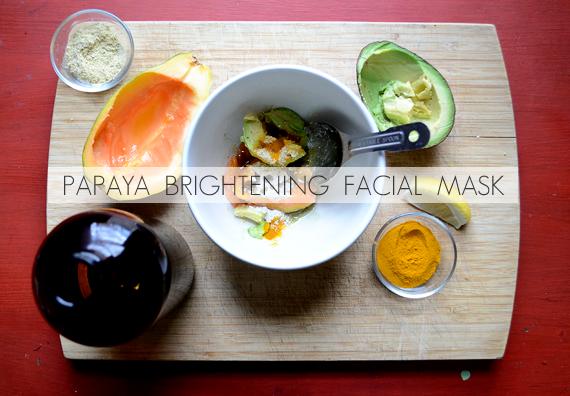 Homemade Papaya Brightening Facial Mask // Bubby and Bean