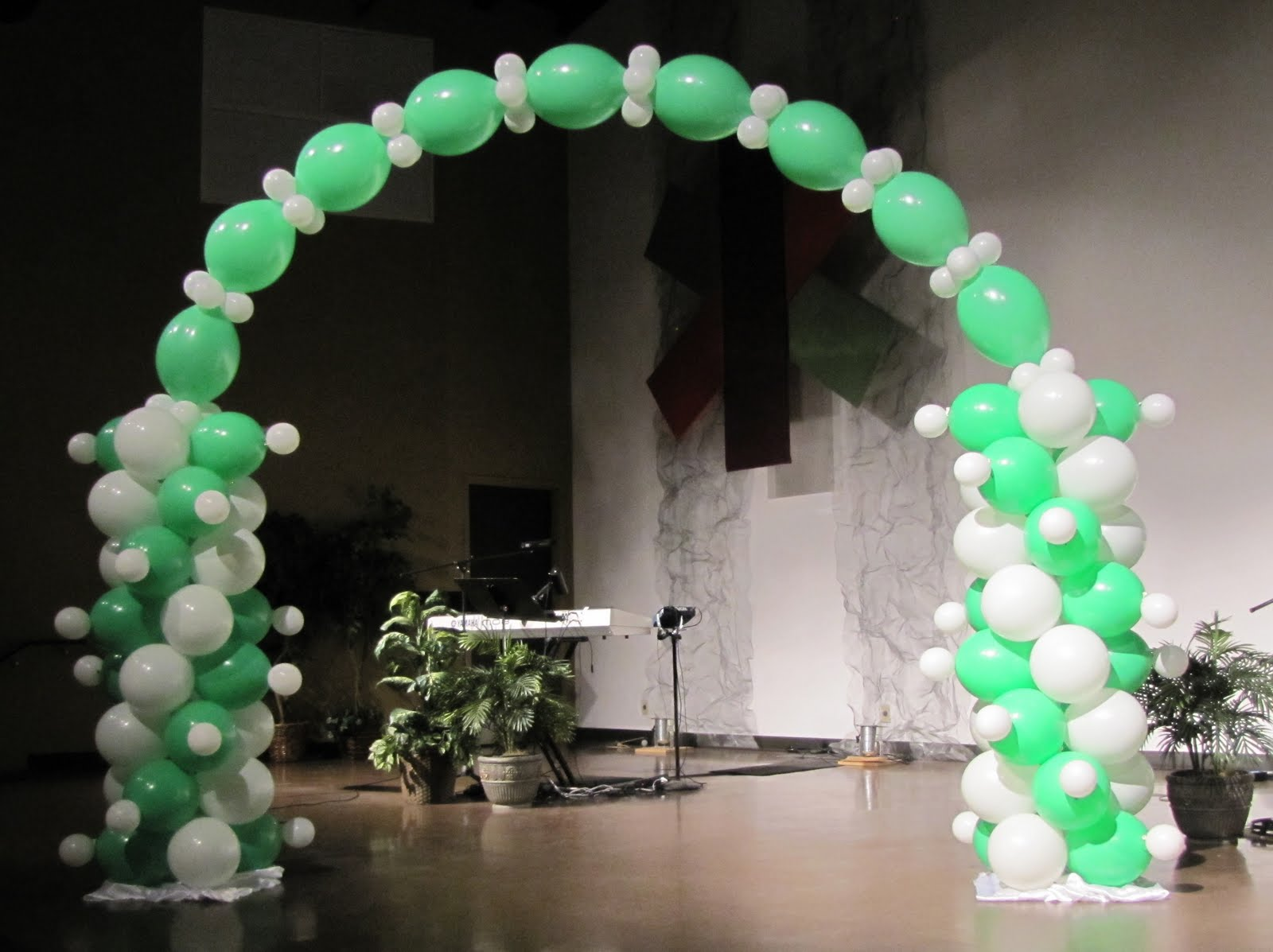 Party people event decorating company girl scout bridging for Balloon decoration for stage
