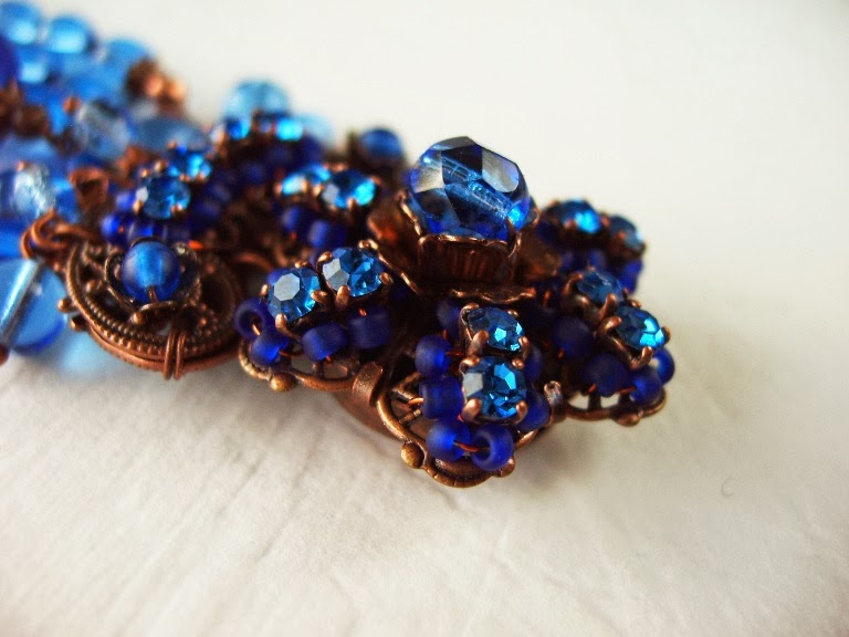 vintage Swarovski mdmButiik copper bracelet