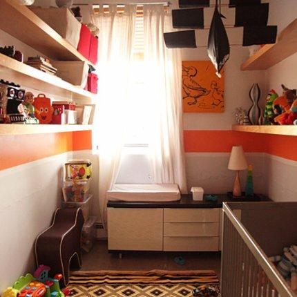 Habitaci n para bebe con colores c lidos infantil decora - Color pared habitacion bebe ...