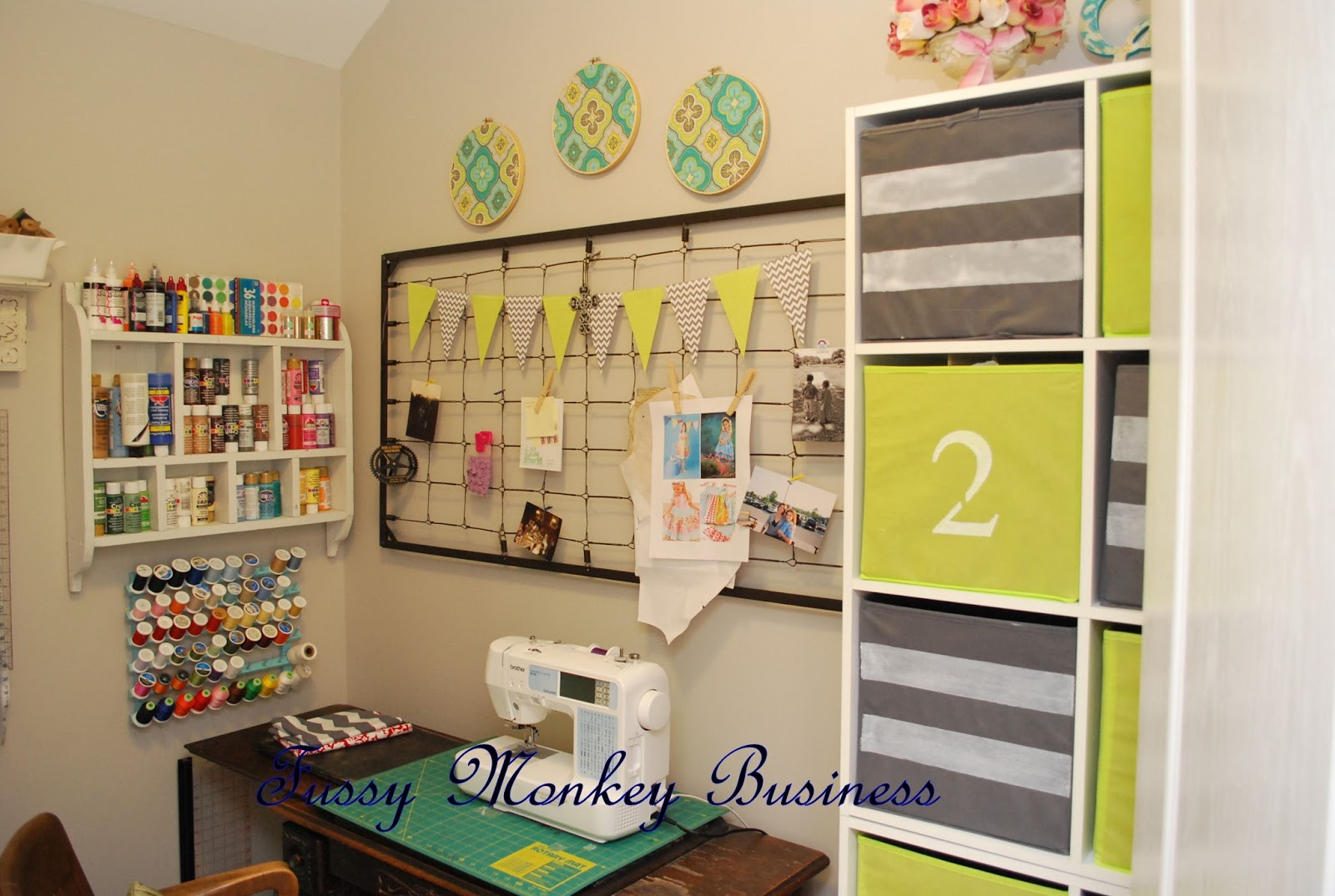 Fussy monkey business craft room makeover for Pictures of craft rooms