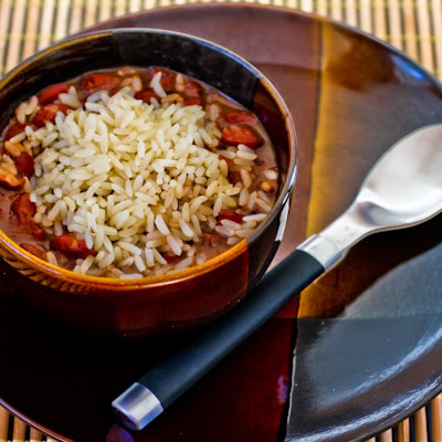 Slow Cooker Louisiana-Style Red Beans and Rice Recipe from Kalyn's Kitchen [found on SlowCookerFromScratch.com]