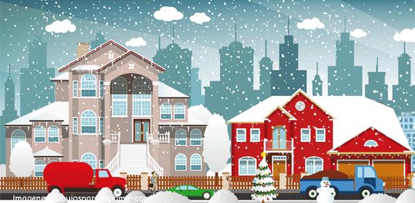 casas tradicionales en navidad