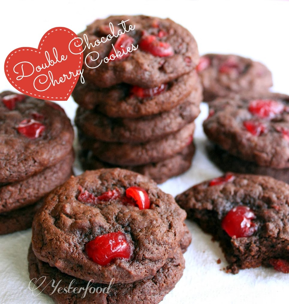 Rich Chocolate-Cherry Cookies