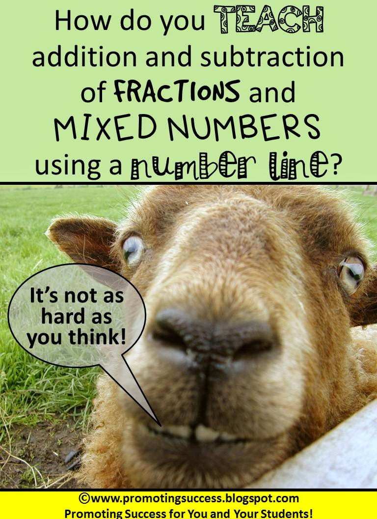 Promoting Success Adding and Subtracting Fractions on a Number Line – Adding and Subtracting Integers Using a Number Line Worksheets