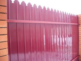Забор из фигурного профлиста (резная кромка). Фото 12