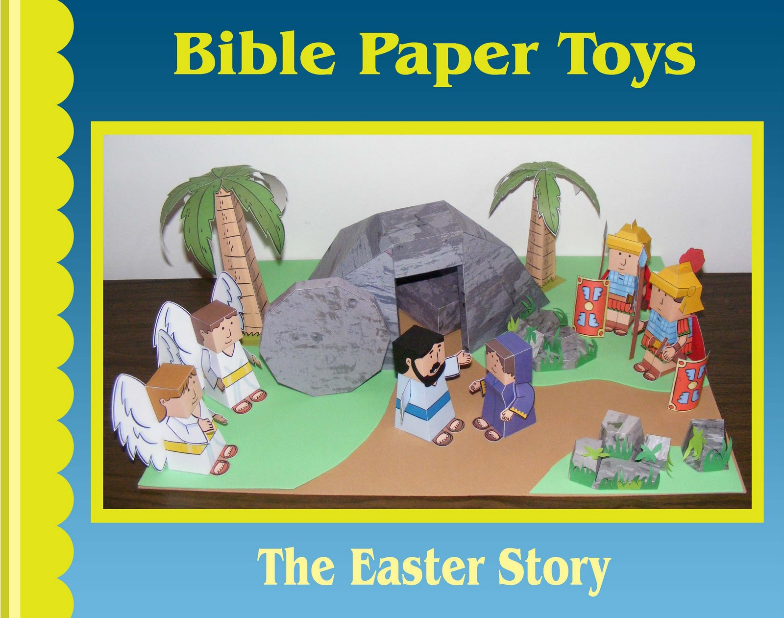 Toys Easter Magazine : My little house bible paper toys easter