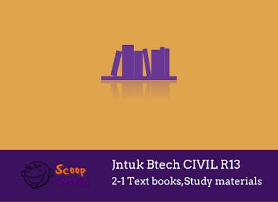 Civil Jntu Study materials