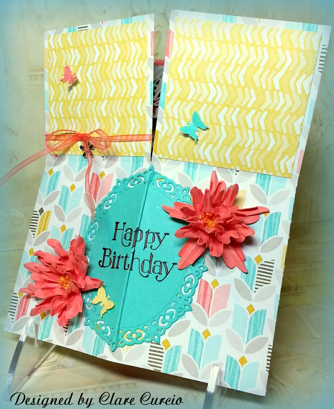 Clare S Paper Works Happy Birthday Pop Up Box Card