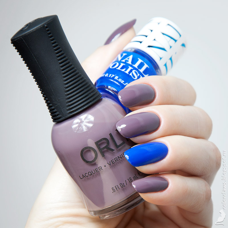 Orly Blend + H&M Blue Me