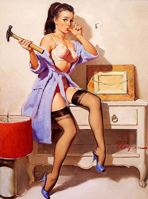 Vintage Art: American Pin-Up