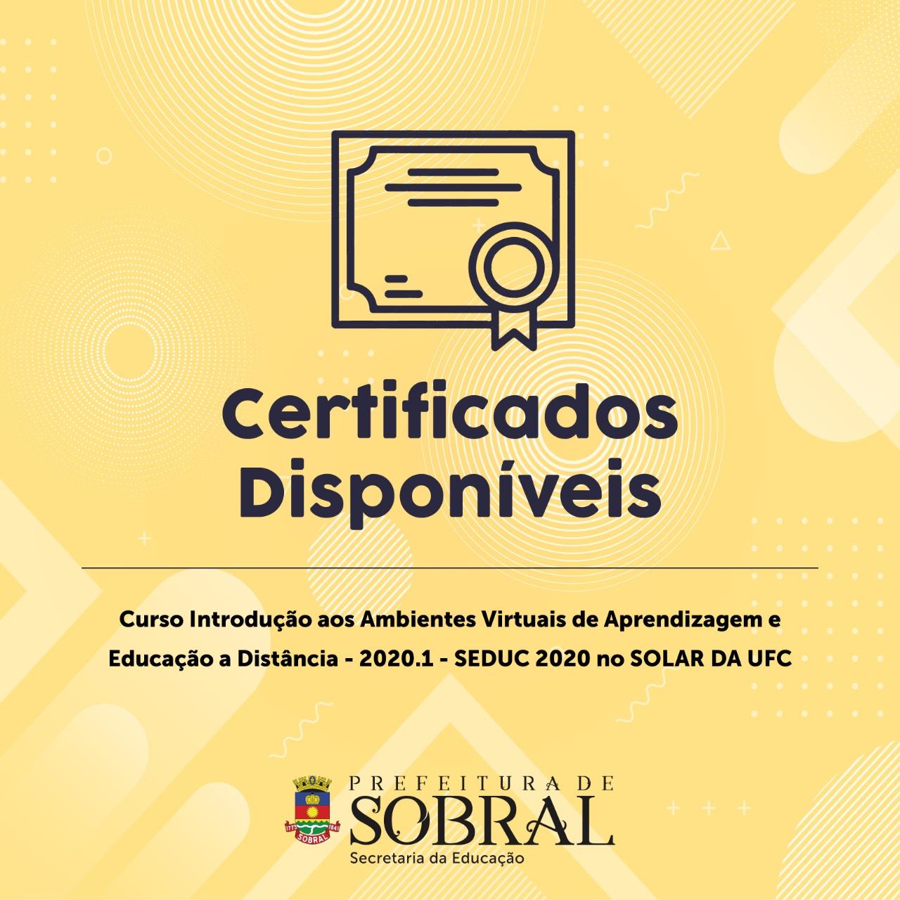 Certificado Curso EAD