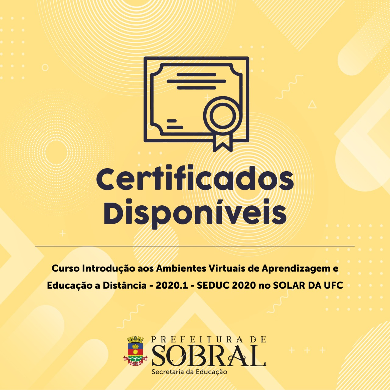 Certificado Curso Ambientes Virtuais