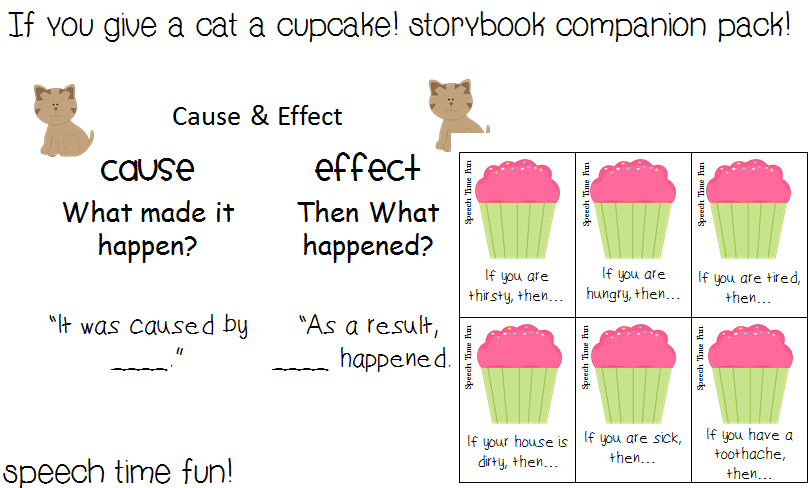 Reading comprehension stories if you give a cat a cupcake storybook companion pack - Wit ceruse effect ...