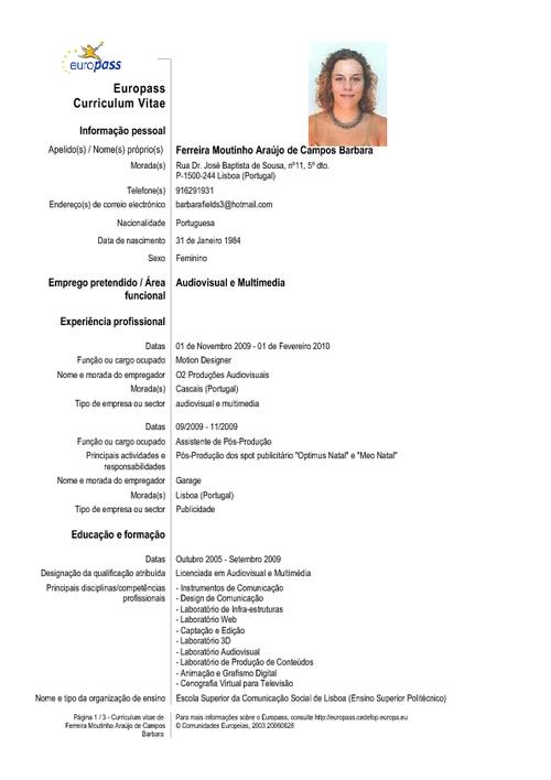 informática 4to. Contable: MODELO DE CURRICULUMS