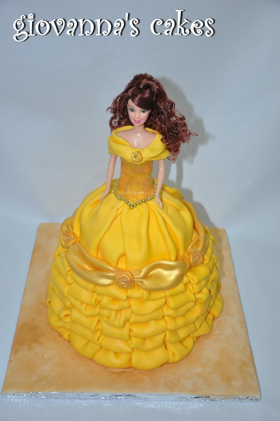 giovannas cakes introducing my most beautiful Belle doll cake