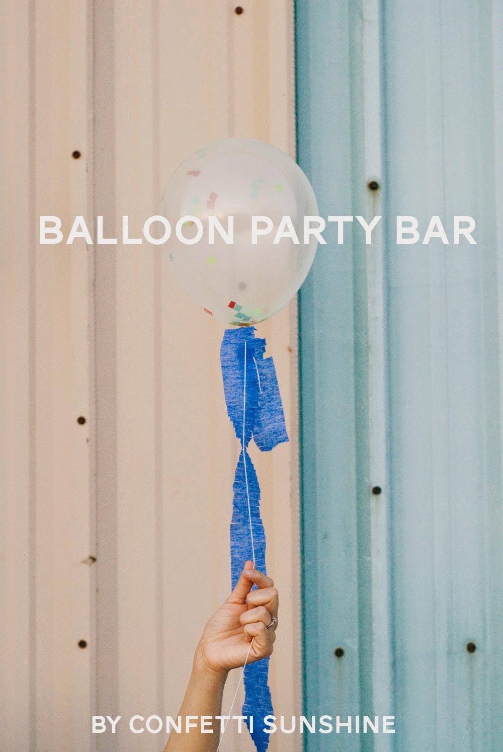 The Party Hop: Summer Fiesta Balloon Party Bar