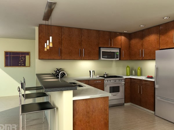 Modern Kitchen Design With Wood Theme Home Inspirations