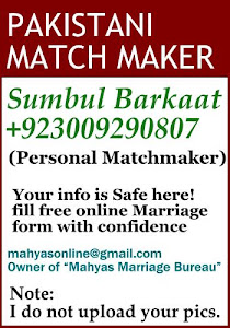 Pakistani matchmaker and Owner of leading marriage bureau