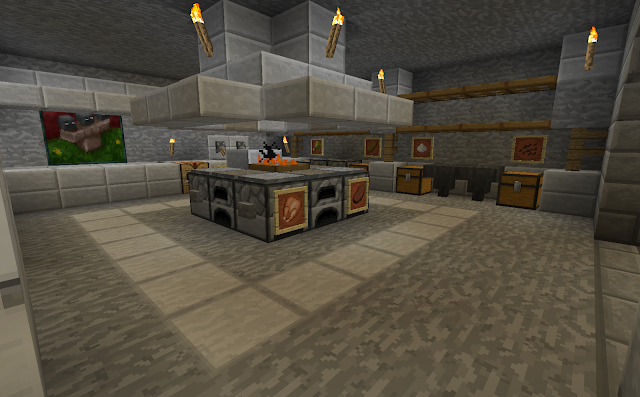 Minecraft projects minecraft kitchen with functional for Kitchen ideas minecraft
