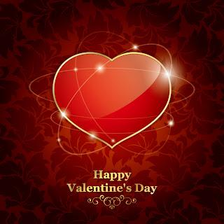 輝くハートのバレンタインデー背景 exquisite valentine background イラスト素材