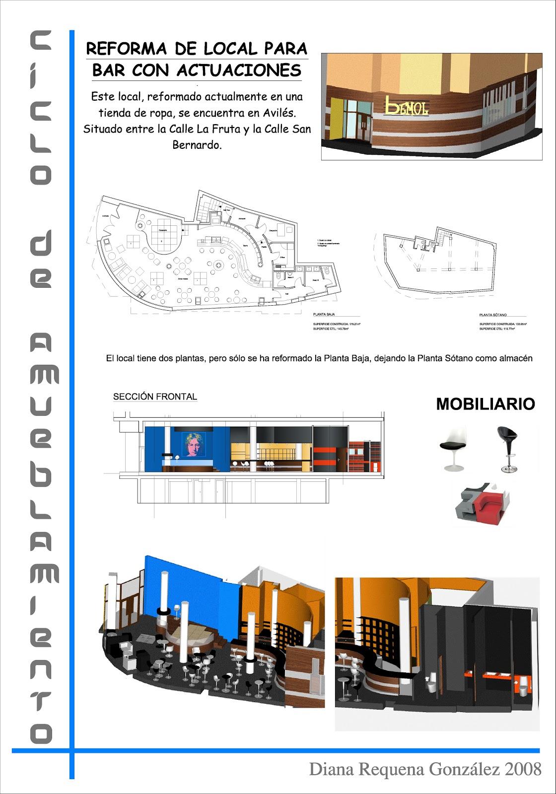 Trabajos y proyectos de construcci n e interiorismo - Proyecto diseno de interiores ...
