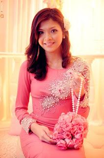baju sanding pastel pink cute baju pengantin peach