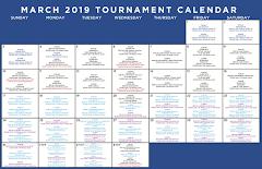 March Tournament Calendar