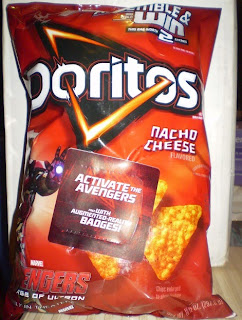 Front of Nacho Cheese Doritos with Iron Man bag