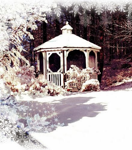 Christmas Gazebo note paper for you
