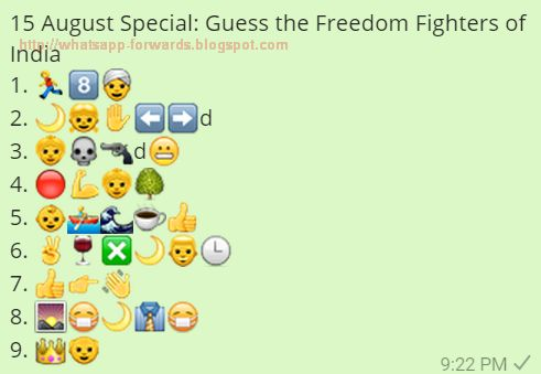 Guess the Freedom Fighters of India