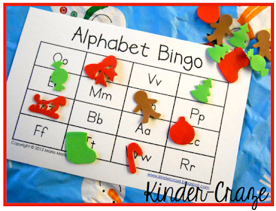 holiday foam shapes= instant Christmas BINGO