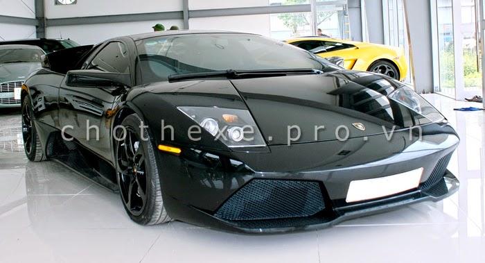 Thuê siêu xe Lamborghini Mucielago đen