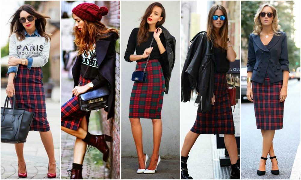 How to style tartan dress