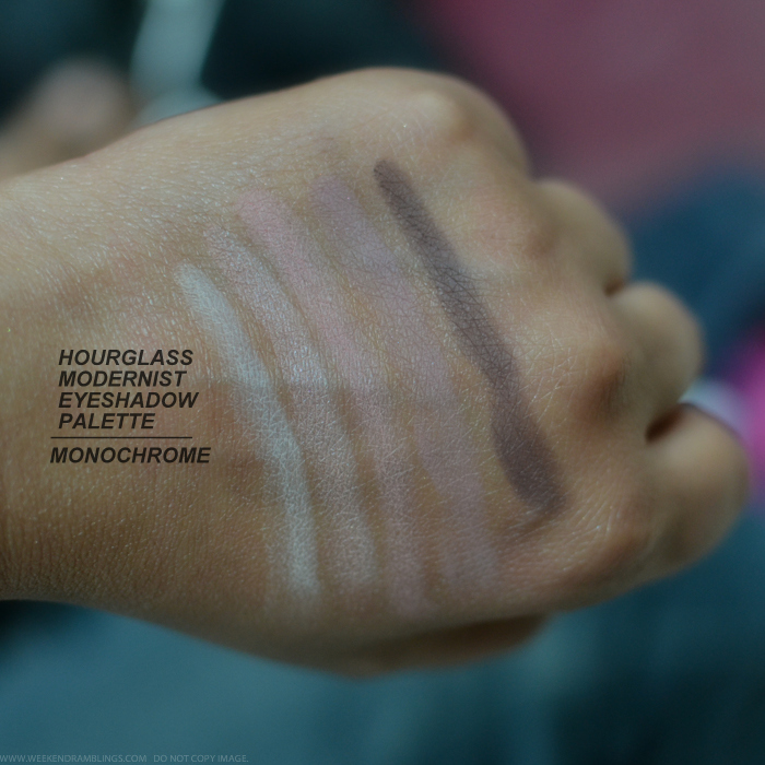 Hourglass Modernist Eyeshadow Palettes Monochrome Makeup Swatches