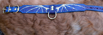 carved leather dog collar
