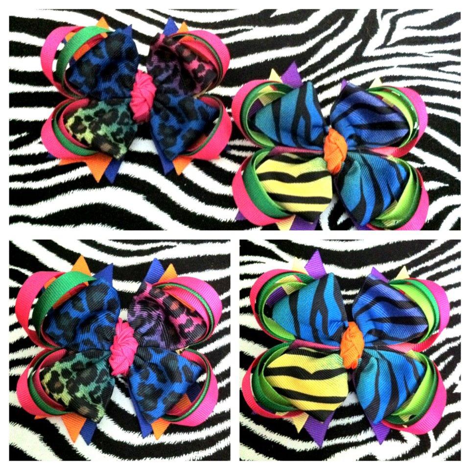 My Creative Way: Multi Color Zebra & Cheetah Bows. Tutu Fairy