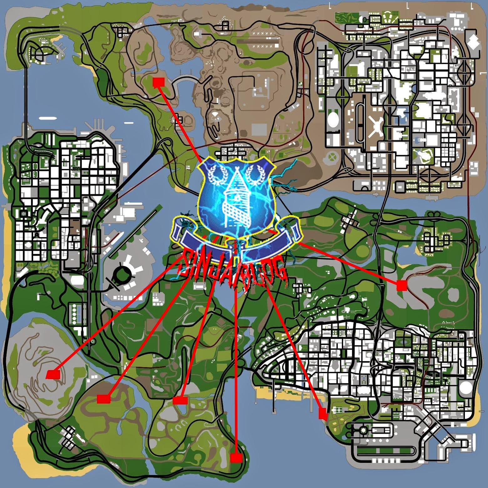 Peta Lokasi Dinosaurus
