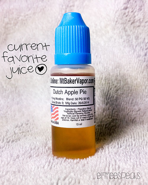e juice dutch apple pie